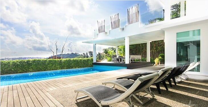 Sea View Villa with Private Pool - Kata Hill
