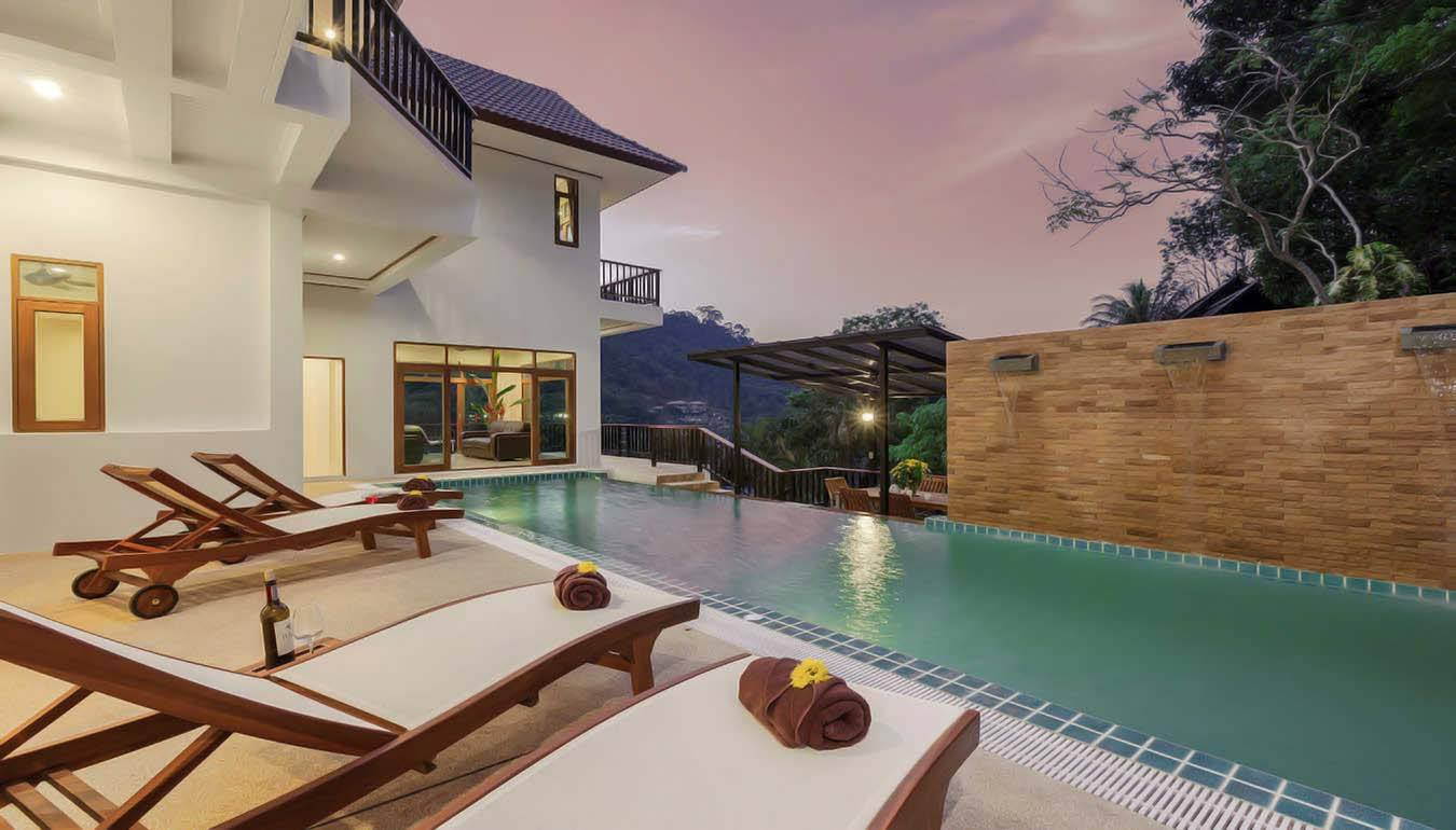 Luxury Private Pool Villa – Sea View – 8 Beds – Patong beach